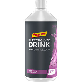 PowerBar Boisson Électrolyte 1l, Passion Fruit-Lime Zero Sugar with Caffeine & L-Carnitin